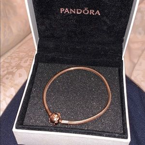 Pandora Rosé Gold 19in charm bracelet NEW